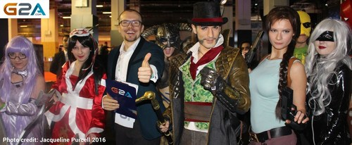The co-founder and CEO of G2A, Bartosz Skwarczek was mobbed by cos-players after he officially opened GIST ...