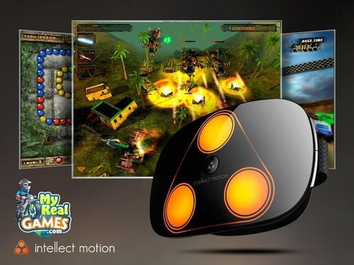 iMotion – a 3D motion controller with haptic feedback (PRNewsFoto/MyRealGames.com)