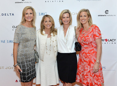 BEVERLY HILLS, CA - (L-R) Jill Olofson; Tricia Elattrache; Stephanie Booth Shafran and Colleen Pennell attend the CHIPS 2016 Spring Luncheon and Fashion Show, Benefitting Children's Institute, Inc. (CII) The event--held at The Beverly Hills Hotel--honored Stanley and Fiona Druckenmiller and featured the St. John Pre-Fall 2016 Collection.