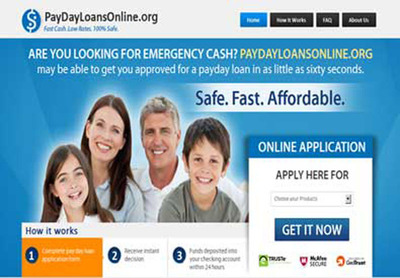 PayDayLoansOnline.org is one of the largest networks of payday cash lenders.  (PRNewsFoto/PayDay Loans Online Services Ltd)