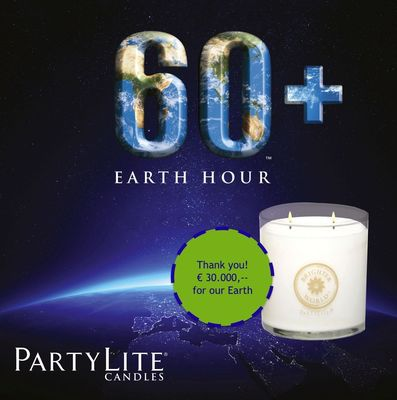 PartyLite Donates close to EUR 30,000 to the Global Earth Hour Movement from 10,000 Parties (PRNewsFoto/PartyLite)