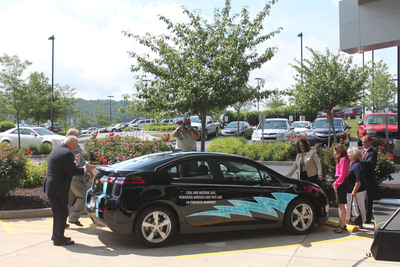 Chevrolet Volt unveiled at CONSOL Energy headquarters in Canonsburg, PA. The company installed an Eaton Level II charging station for employees.  (PRNewsFoto/CONSOL Energy Inc.)