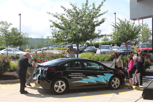 Chevrolet Volt unveiled at CONSOL Energy headquarters in Canonsburg, PA. The company installed an Eaton Level ...