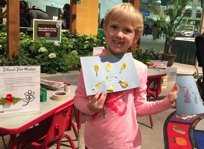 British International School of Chicago, Lincoln Park offers STEAM-inspired activities such as flower dissection and making biodegradable pots at the Chicago Flower and Garden Show at Navy Pier.