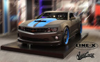 LINE-X Protective Coatings and West CoastCustoms Debut LINE-X Camaro, featuring a full exterior spray of LINE-X Body Armour at 2012 SEMA.  (PRNewsFoto/LINE-X Protective Coatings)