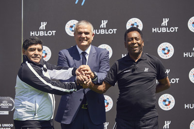 Hublot Creates History in Bringing Pele and Maradona Together 2 Legends for a Historic Once in a Lifetime Match! (PRNewsFoto/Hublot)