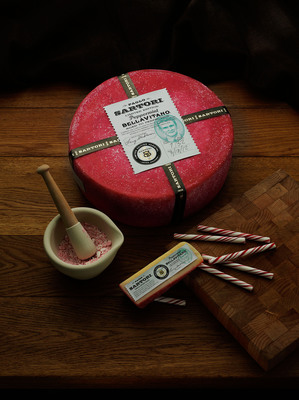 Sartori Cheese Supports National Breast Cancer Foundation, Inc.(R) with New Pink Peppermint BellaVitano(R) Cheese.  (PRNewsFoto/Sartori)