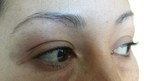 Eyebrows and eyelashes Before (PRNewsFoto/Havana Spa)