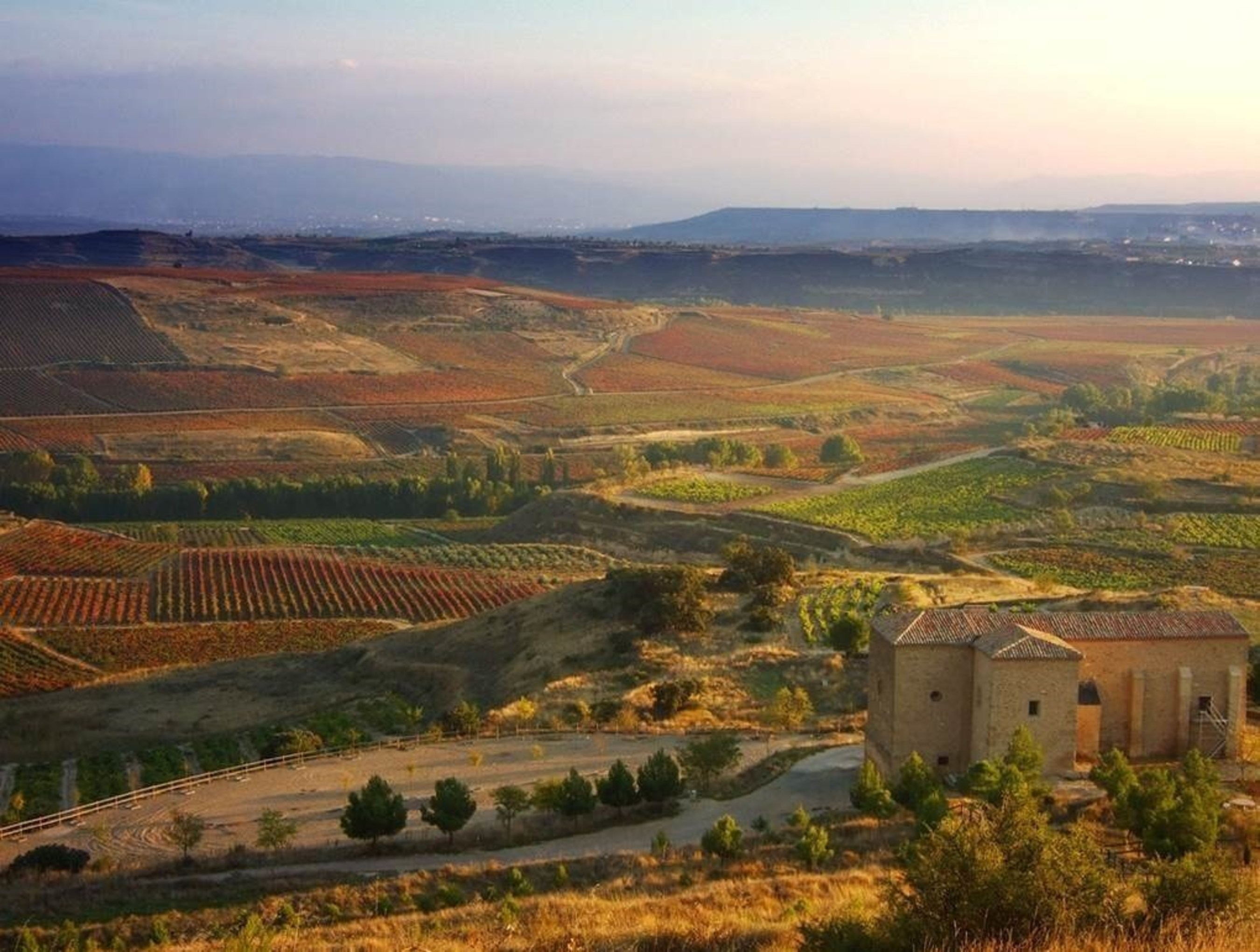 A view of the Rioja wine region, located in north central Spain and considered one of the greatest wine regions in the world.