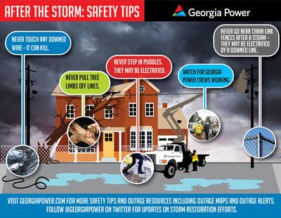 Important safety tips from Georgia Power as Hurricane Matthew moves through coastal Georgia.