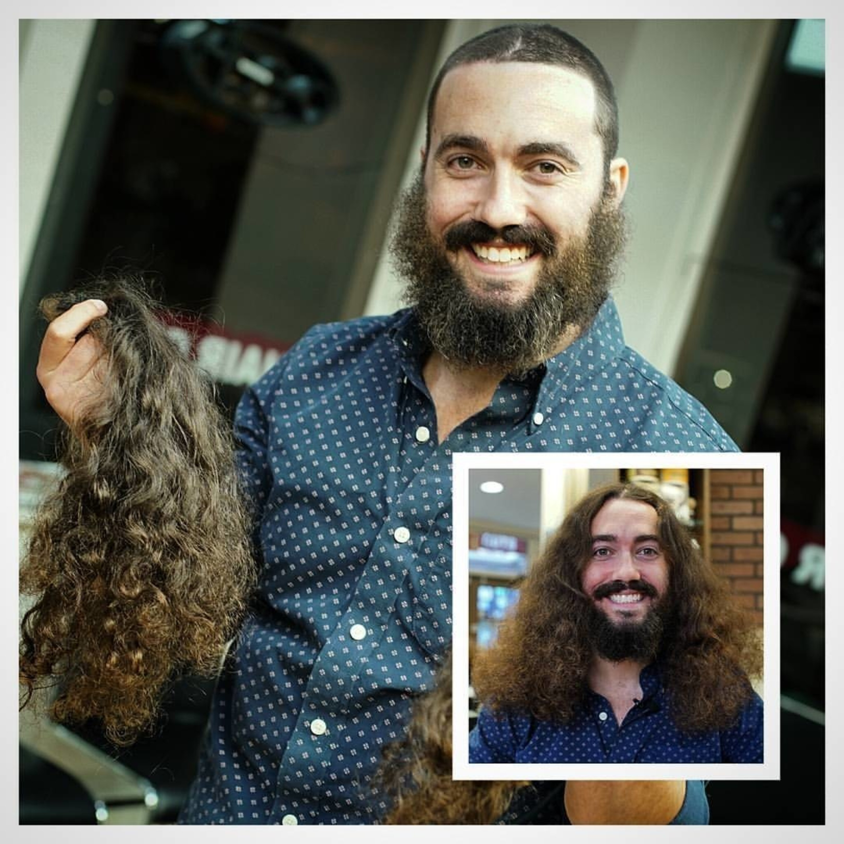 Male Rapunzel Cuts His Hair for Chai Lifeline and Children's Cancer on the Streets of New York
