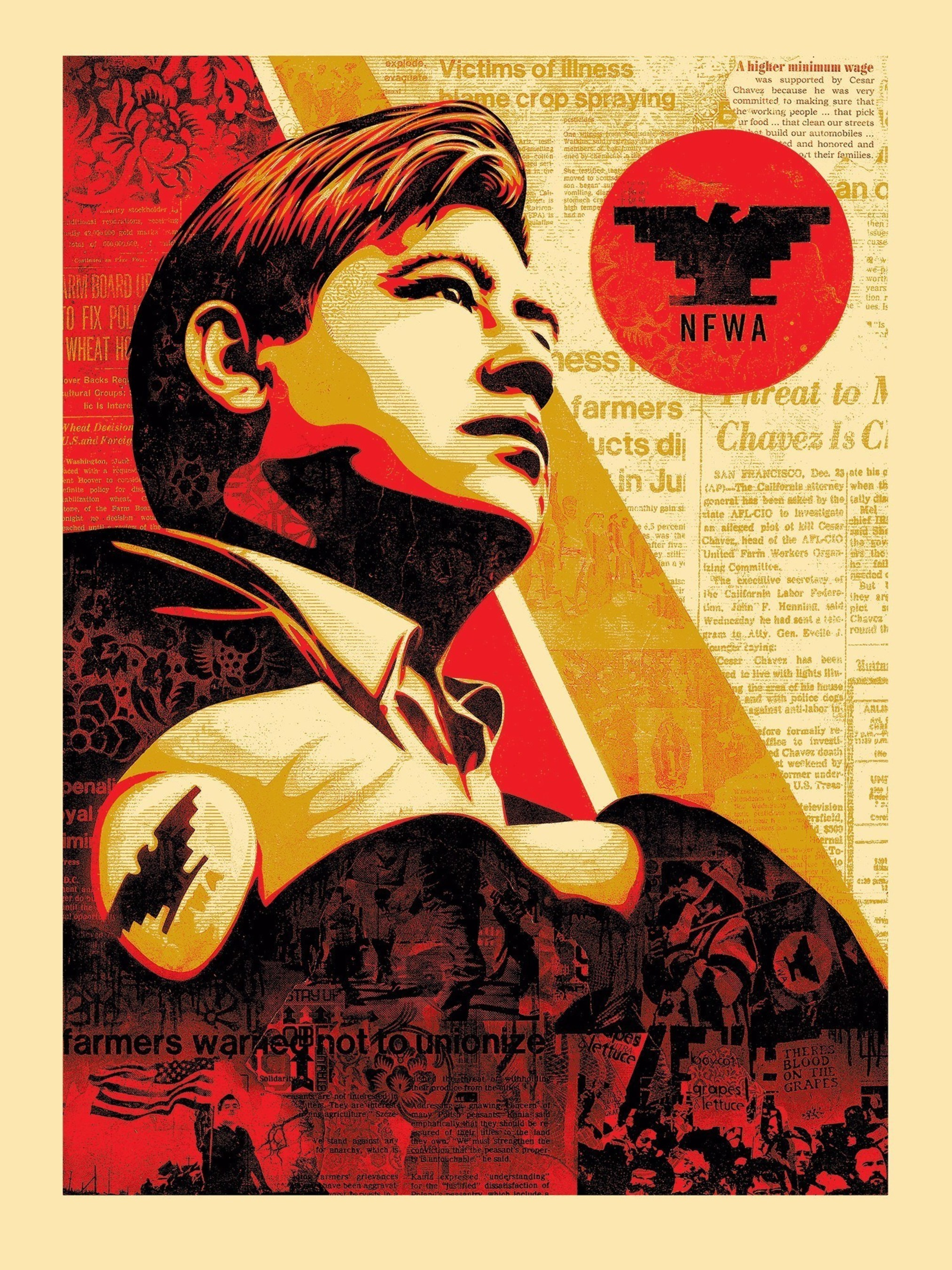 Shepard Fairey x Jim Marshall - Workers' Rights - American Civics Series - Serigraph - 40 x 30 inches - Edition of 100 - 2016