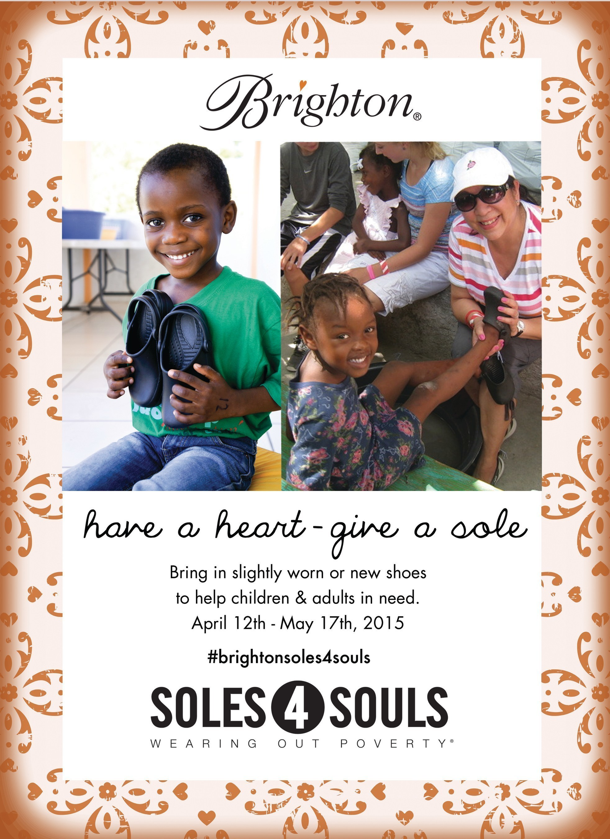 Help Brighton Collectibles Collect 100,000 pairs of shoes to fight global poverty