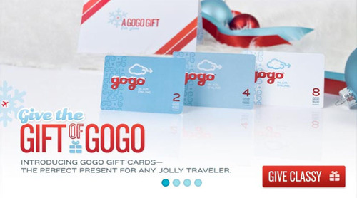 Give the Gift of Gogo for the Holidays.  (PRNewsFoto/Gogo)