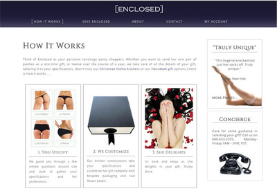 Enclosed's Upscale Panty Subscription Club - image 2. (PRNewsFoto/Enclosed) (PRNewsFoto/ENCLOSED)