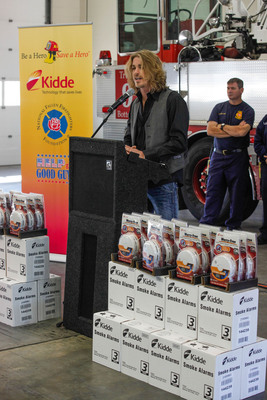 Kidde makes donation to the National Fallen Firefighters Foundation and Help the Good Guys, two organizations dedicated to helping the families of injured and fallen firefighters.  (PRNewsFoto/Kidde)