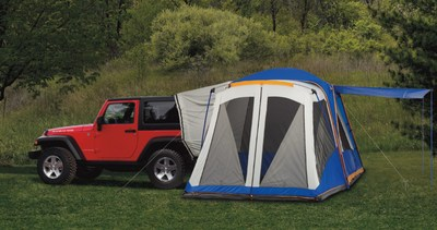 Mopar showcases 15 hot products to extend summer journeys including this tent, which fits all Jeep vehicles.