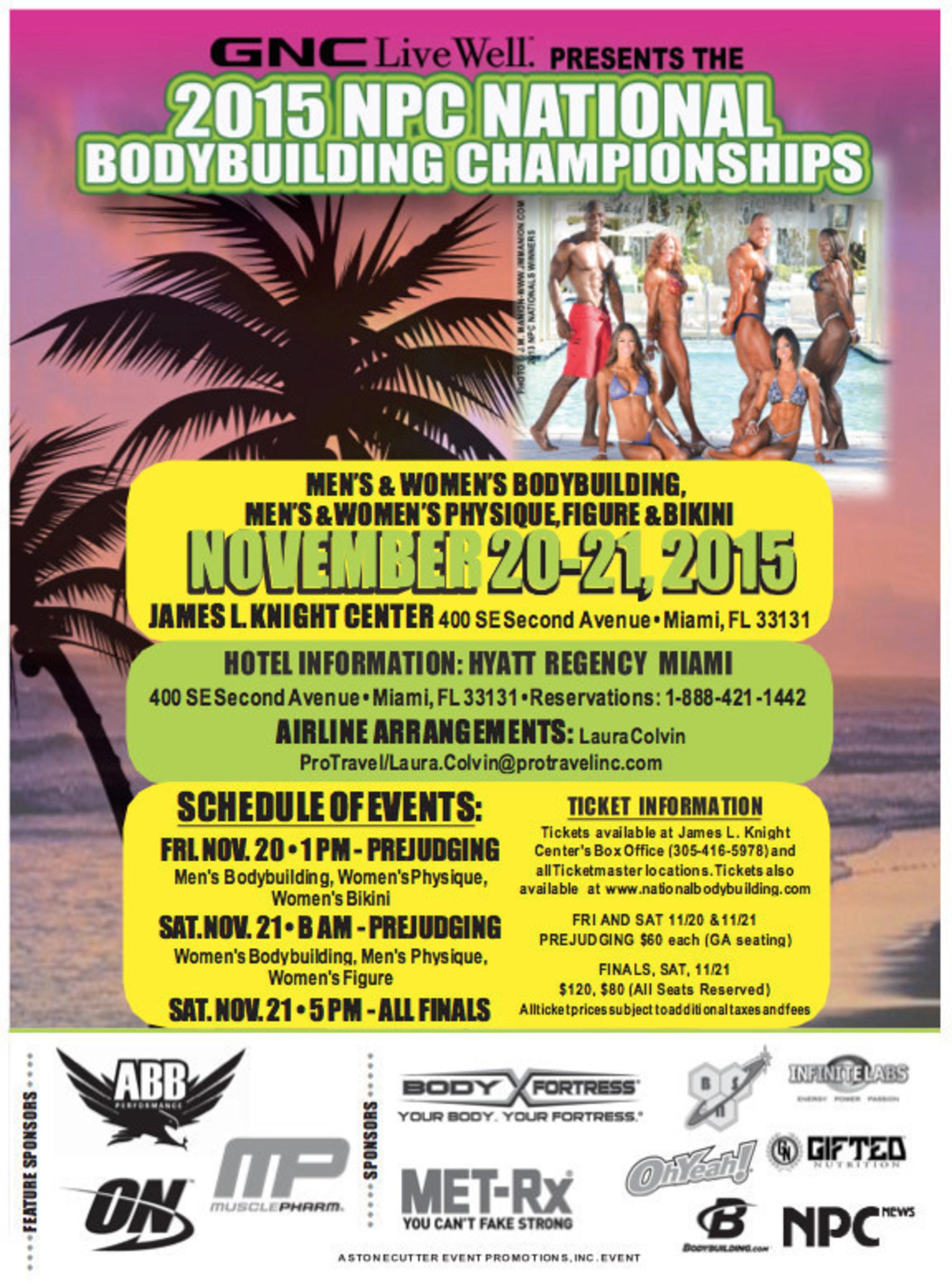 2015 NPC National Bodybuilding Championships Take Over Miami November 20-21