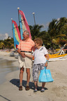 Match.com newlyweds, ages 90 & 82, honeymooning at Breezes Grand Negril, Jamaica.  (PRNewsFoto/Breezes Resorts & Spas and Match.com)