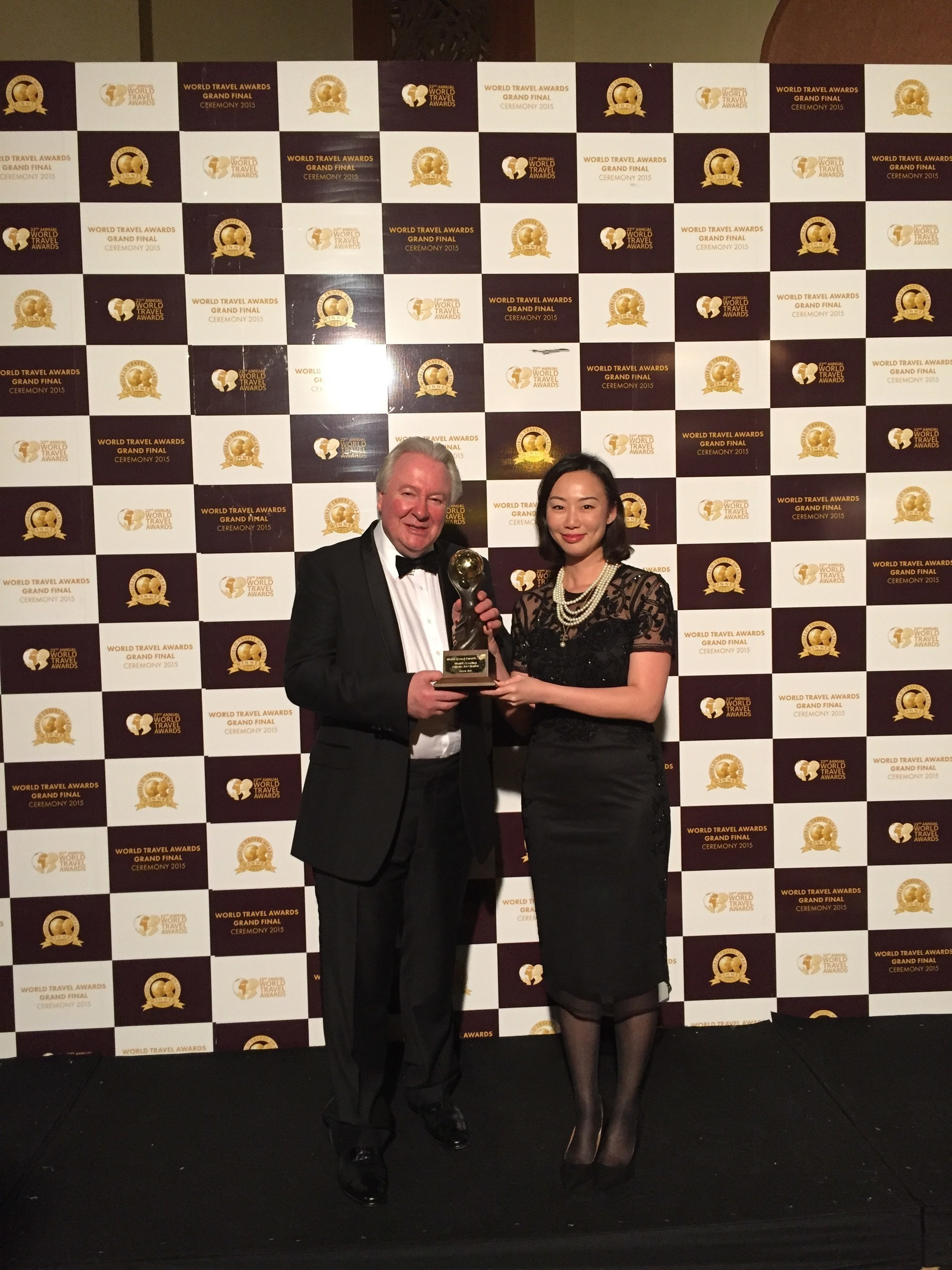 The Director of Service Delivery of Deer Jet, Ms Poon Mei Shan and The President & Founder of World Travel ...