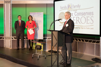 Channel 2 WSB-TV's Justin Farmer and Jovita Moore announced Tom Branch as Atlanta's 2015 Cox Conserves Hero.