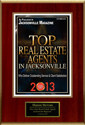 "Sharon Stevens Selected For ""Top Real Estate Agents In Jacksonville."" (PRNewsFoto/American Registry)"