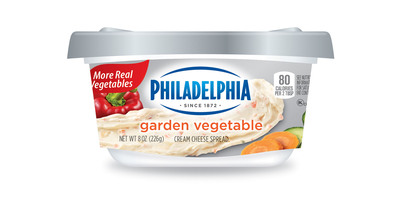 PHILADELPHIA Cream Cheese Spreads now have more fruits and vegetables in its most popular flavors.