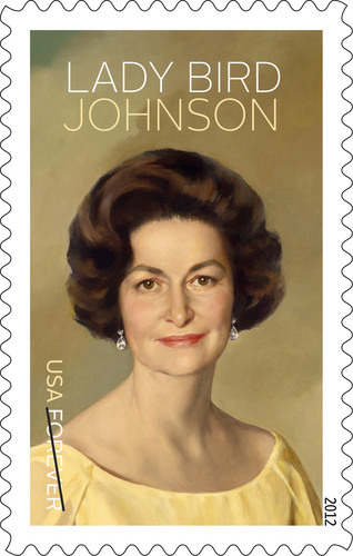 U.S. Postal Service to Honor Beloved Lady Bird Johnson on Forever Stamp, Nov. 30.  (PRNewsFoto/U.S. Postal Service)