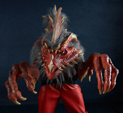 The Nightmare Collection, available on BuyCostumes.com, features 14 monstrous masks and costumes, including Ember, the Red Dragon.