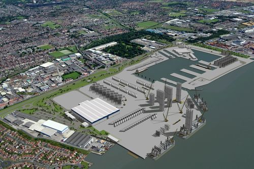 Siemens manufacturing plan will help create around 1,000 jobs - 550 at the blade factory and 450 at Green Port Hull (PRNewsFoto/SIEMENS PLC)