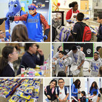 The Dallas Mavericks' mascots and dancers visited Arcadia Park Elementary School to serve meals, pose for photos and sign autographs as part of an event celebrating the expansion of Dallas ISD's After School Meal Program.