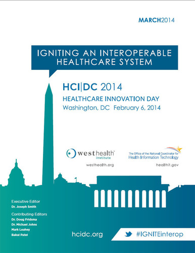 The West Health Institute and ONC released a white paper summarizing the HCI-DC 2014: Igniting an Interoperable Healthcare System conference, featuring lessons learned and synthesizing findings into a call for action to achieve an interoperable healthcare system. Download the white paper here: http://www.westhealth.org/institute/hci-dc-event. (PRNewsFoto/Gary and Mary West Health Institute) (PRNewsFoto/GARY AND MARY WEST HEALTH)
