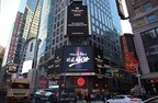 TCL and China Telecom highlighted on the large screens that overlook New York's Times Square