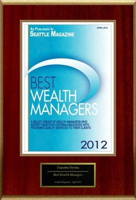 "Timothy Devlin Selected For ""Best Wealth Managers"".  (PRNewsFoto/American Registry)"