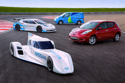Nissan has unveiled the ZEOD RC challenger for next year's Le Mans 24 Hours. The fastest electric racing car in the world. The new race program continues Nissan's global leadership in electric vehicles for the road.   (PRNewsFoto/Nissan)