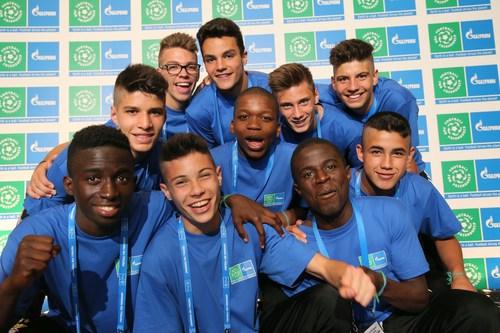 Participants of International Children's Social programme FOOTBALL FOR FRIENDSHIP (PRNewsFoto/FOOTBALL FOR FRIENDSHIP)