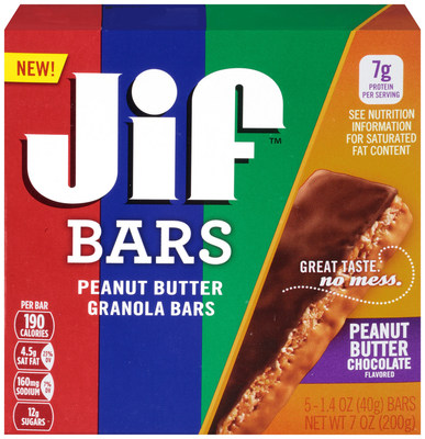 Jif Peanut Butter Chocolate Flavored Granola Bars