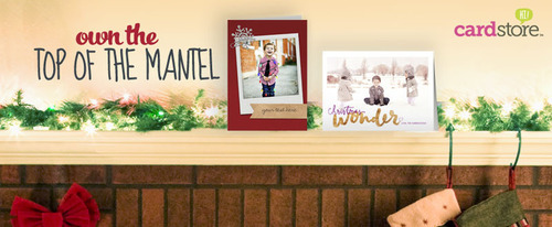 Shop Cardstore today and get your holiday card to the #topofthemantel.  (PRNewsFoto/American Greetings Corporation)