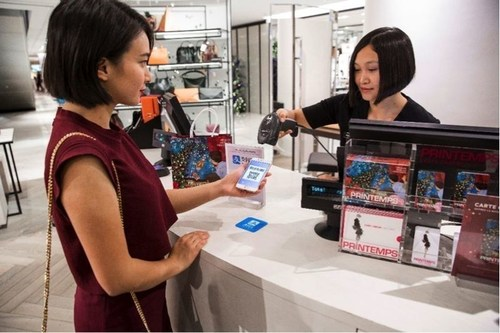 Printemps partners with Wirecard and becomes the first department store in France to accept payments via Alipay. Photographer Paul Blind (PRNewsFoto/Wirecard AG)