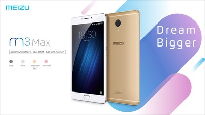 Meizu launches 6 inch M3 Max smartphone (in China)