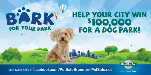 "PetSafe launched its third annual ""Bark for Your Park"" contest through which cities across the U.S. can share in $200,000 of funding for off-leash dog parks. To nominate your city, go to www.petsafe.net.  (PRNewsFoto/PetSafe)"