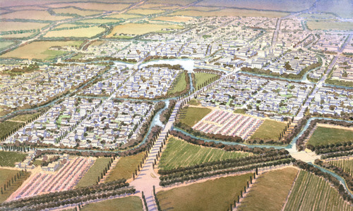 "Nanhu Country Village Awarded First ""Prize for Cities of the Future"" (Image (C) SOM 