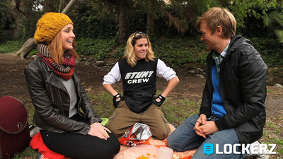 "Jayma Mays, Cierra Solis and Adam Campbell star in ""Marcy,"" an original comedy Web series produced by Lockerz.  (PRNewsFoto/Lockerz)"