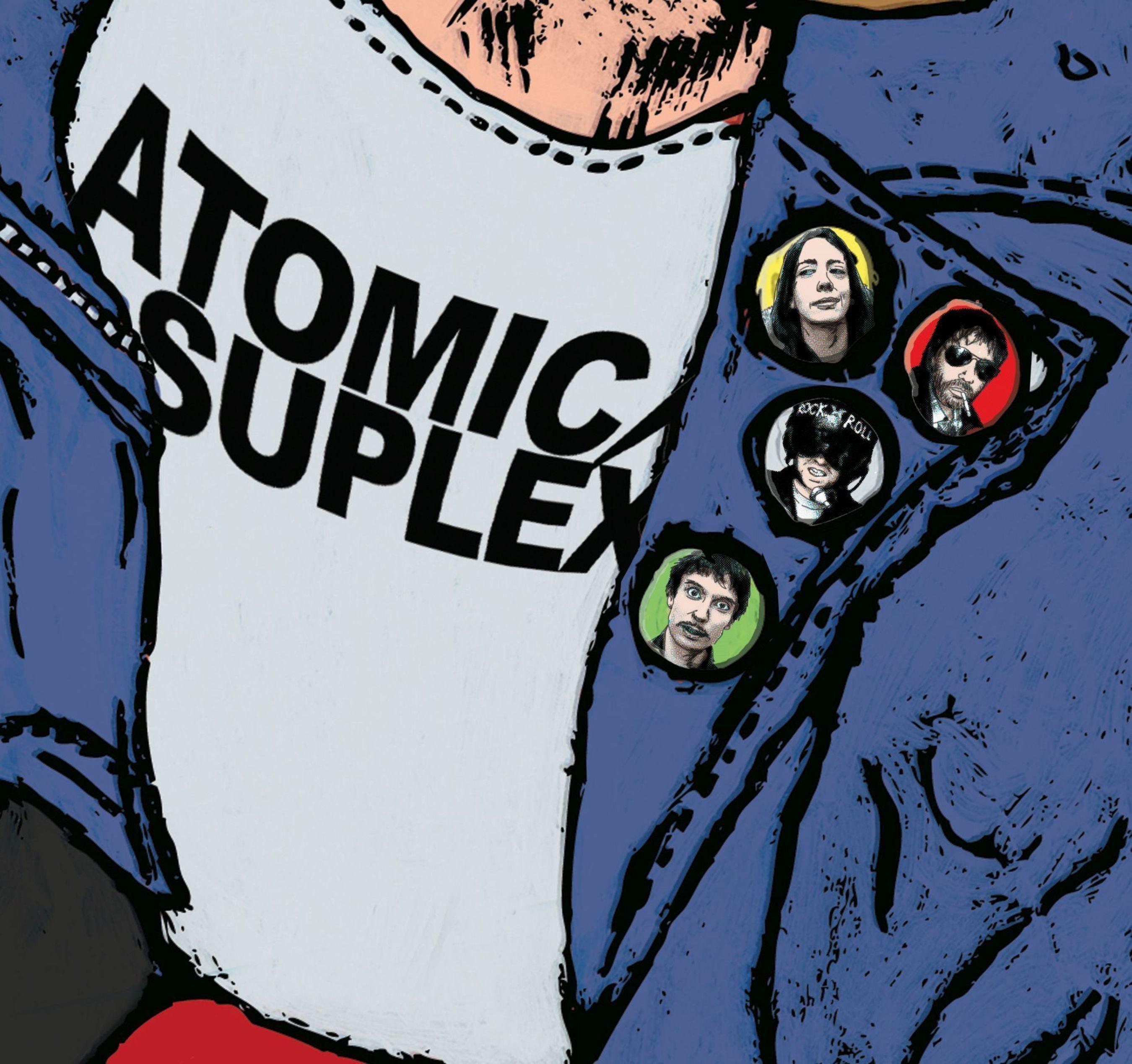 Atomic Suplex T-B: Emma Leaning, JD Kick Drum, Stuart Suplex, Dan Suplex (PRNewsFoto/Dirty Water Records)