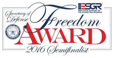 2016 Secretary of Defense Employer Support Freedom Award Semifinalist Logo