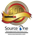 Source One Management Services, LLC was honored by Supply & Demand Chain Executive magazine for having one of the 100 greatest supply chain projects of 2013. This is the eighth consecutive year that Source One has received such an honor.  (PRNewsFoto/Source One Management Services, LLC)