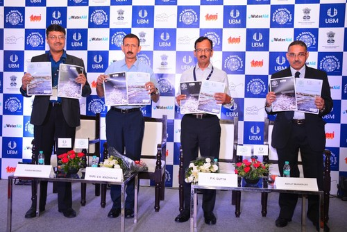 The launch of two industry reports on 'Solid Waste to Resource' and 'Urban Sanitation in India' by The Energy and Resource Institute (TERI ) and WaterAid respectively in association with UBM India (PRNewsFoto/UBM India Pvt. Ltd.)