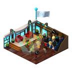 This in-game Ellen Joyground mimics her talk show studio! Play now to add it to your WeTopia. (http://apps.facebook.com/wetopia).  (PRNewsFoto/Sojo Studios)