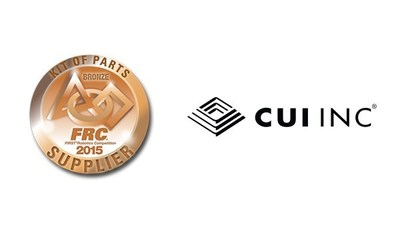 FIRST Robotics Supplier Medal and CUI Inc Logo