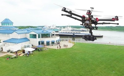 Fovea Aero Systems conducts a drone trial at the Cape May Ferry terminal.